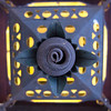 "<span id=""title"">Spiral Lamp</span> <em>Scotty's Castle</em> A cool lamp at Scotty's Castle."