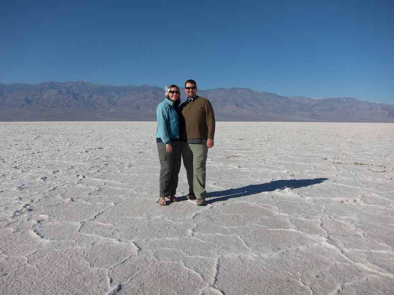 "<span id=""title"">J&A Snapshot</span> <em>Badwater Basin</em> This is our anniversary shot! My wife is wearing a flower and I'm wearing a bow tie - we wore them on our wedding day."