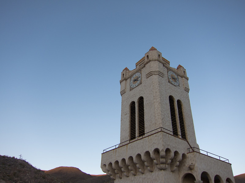 """<span id=""""title"""">Bell Tower</span> <em>Scotty's Castle</em> We were nearby when the bell rang at 5pm, which was fun."""