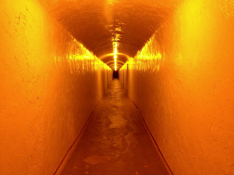 """<span id=""""title"""">Elevator Tunnel</span> <em>Furnace Creek Inn</em> This tunnel leads from the parking lot to the elevator at the Furnace Creek Inn, where we had Thanksgiving dinner."""