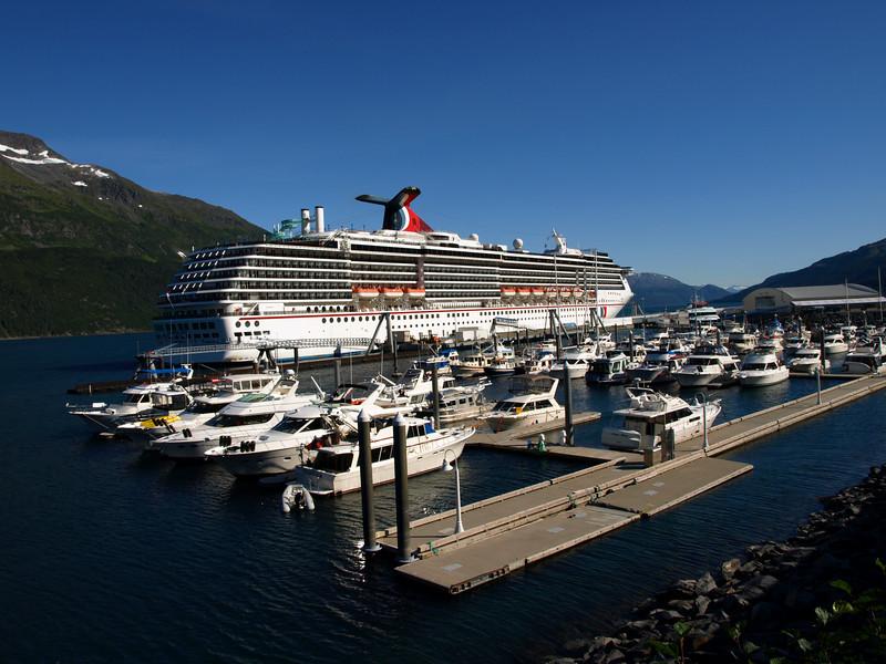 Cruise ship at the Whittier, AK docks.