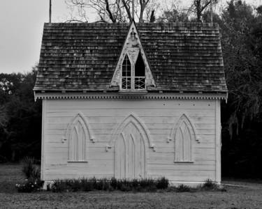The ice house at Botany Bay Plantation