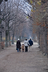 Couldn't resist the picture of a family going down a lonely walkway.