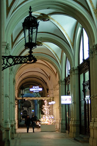 Just a corridor on the way to the Christkindlemarkt at the Rathaus.