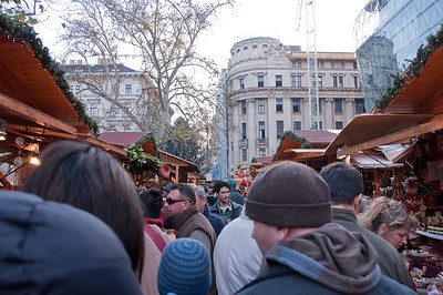 Big day at the Christmas market in Budapest... wall to wall people on Sunday afternoon!