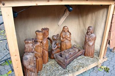 Beautiful hand carved nativity scene.