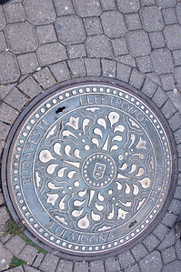 I started photographing manhole covers here in Budapest.