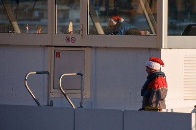A woman onboard knit 45 Santa caps for the entire crew. It was the first time anyone had hand made anything for the crew. It definitely added to the festive atmosphere.