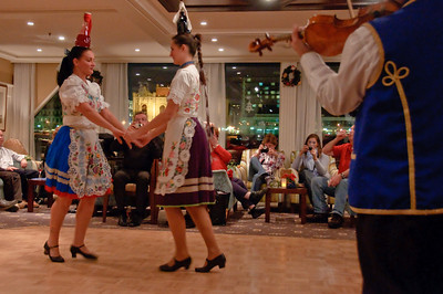 Bottle dance with Hungarian folk dance troupe.