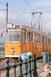 Tram on the Danube.