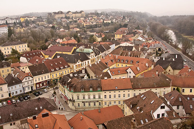 View of the town of Melk from the Abbey.