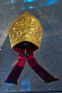 The bishop's mitre. It is still used for special occasions.