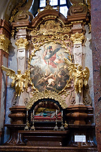 One side altar of many - this one has Archangel Michael.