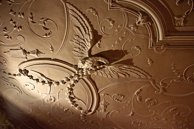 Some ceiling detail with the Imperial eagle.
