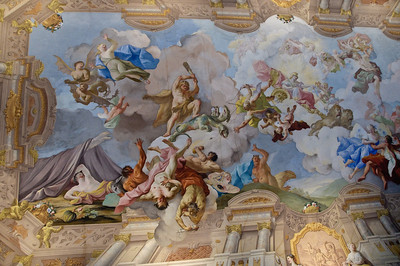 Incredible ceiling fresco.