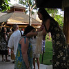 12/22 - Morgan getting a shell necklace at the luau