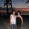 12/21 - sunset on Waikiki Beach