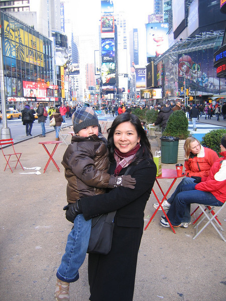 Michael and I in Times Square