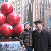 My guys at Radio City Music Hall and a bunch of huge ornaments!