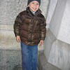 Michael wanted a picture, here, in a corner at St. Patrick's Cathedral, that many bums have probably peed on.
