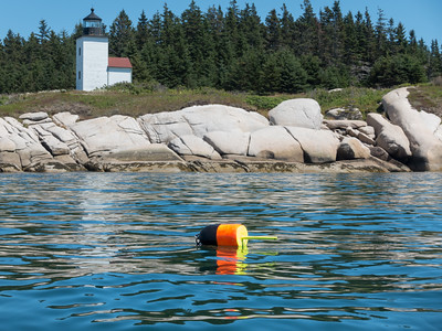 20150722.  Mark Island lighthouse about 1.4 miles southeast of Deer Isle, ME.