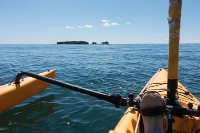 20150722.  Kayaking towards Scraggy Island in East Penobscot Bay; about 2 miles southeast of Deer Isle, ME.