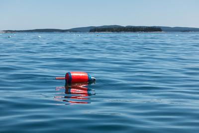 20150722.  Lobster buoy in East Penobscot Bay, ME.