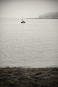 20150721.  Sailboat on Webb Cove, Deer Isle ME.