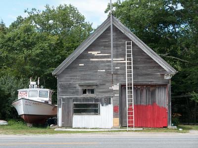 20150723.   Art house at North Deer Isle Road (Rt. 15) and Reach Road, Deer Isle, ME.