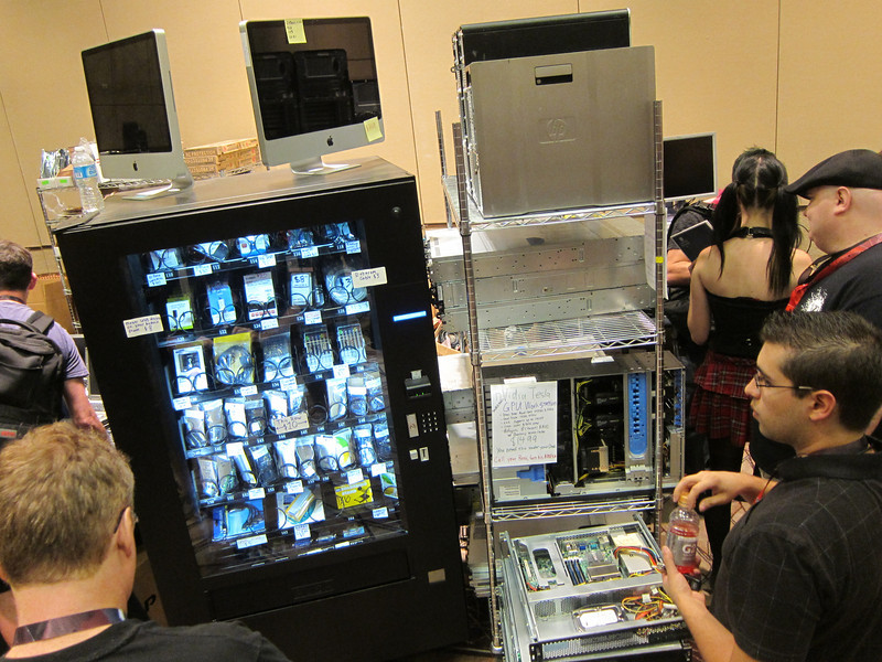Vendor area - arduino and electronics parts vending machine <br /> Next door to Unix Surplus