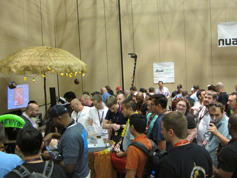 Hak5 booth at the vendor area (You can see Shannon under the tiki hut)