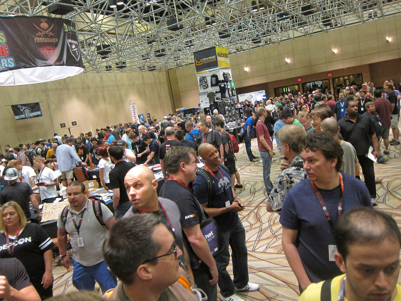 Overall shot of the DefCon vendor area