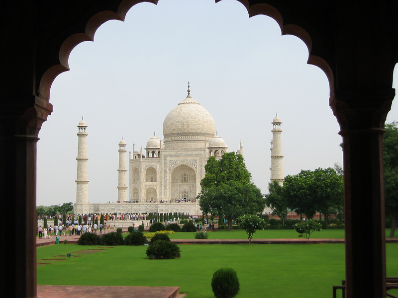 Taj Mahal (heading out through a side gate)
