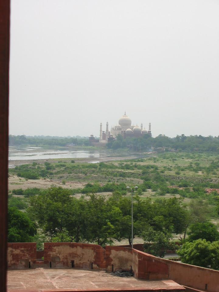 Agra Fort (looking to Taj Mahal)