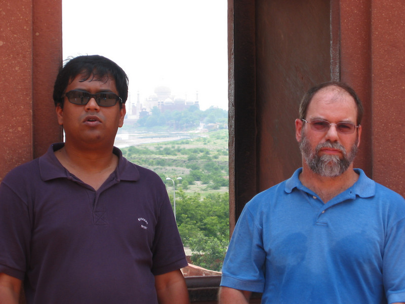 Agra Fort (we're not mad, but it is really, really hot)