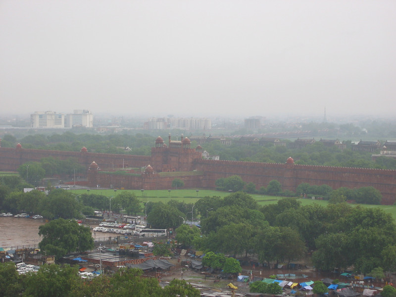Jama Masjid Mosque (looking at Red Fort from tower)