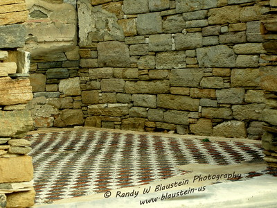 Mosaic floor with geometric design - Delos, Greece