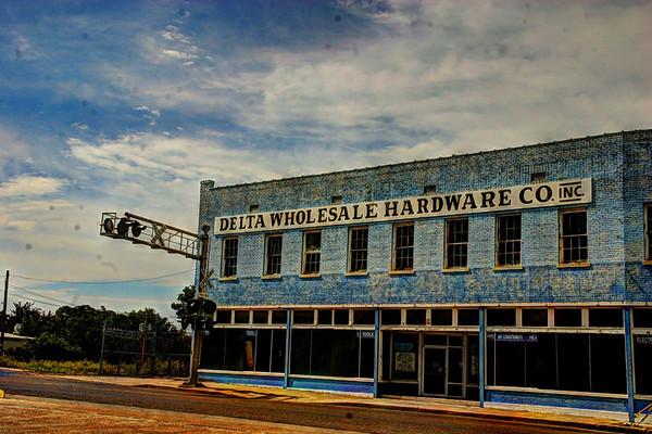 Delta Wholesale Hardware, Clarksdale Mississippi, AKA boring postcards.