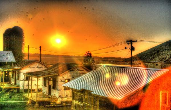 Shackup Inn sunset. Mississippi heat.