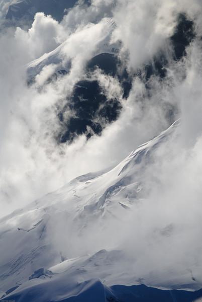 Denali slope in weather.