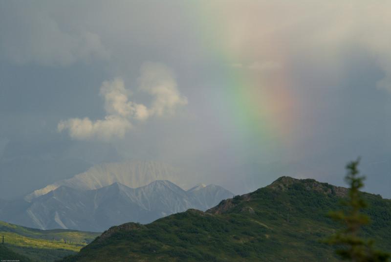 Rainbow hiding Denali