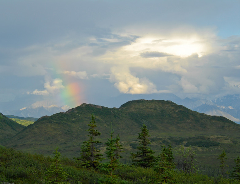 Rainbow -- view from our cabin.