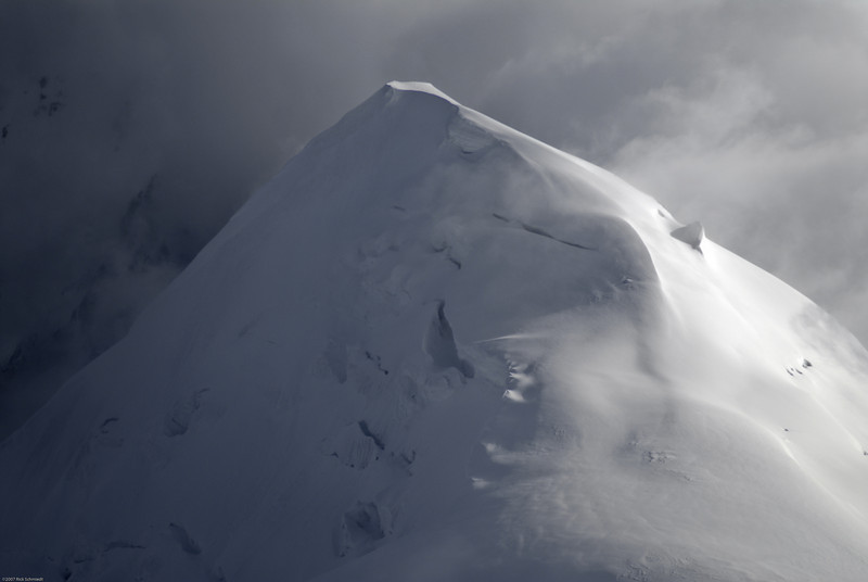 Peak near Denali with its own clouds.