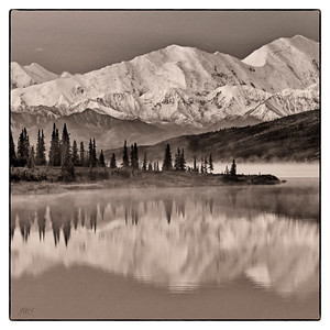 Mountains and Wonder Lake
