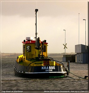 Tug boat at harbour
