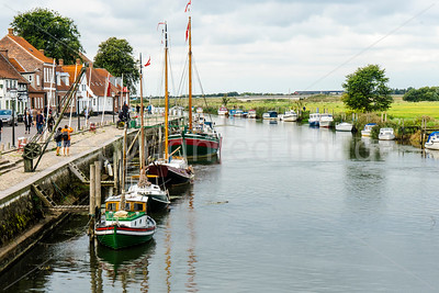 The harbor in Ribe, one of the oldest towns in Denmark