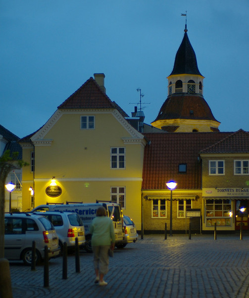 The charming port of Faaborg by night - a true 'available darkness' shot with the 50/1 Noctilux wide open.