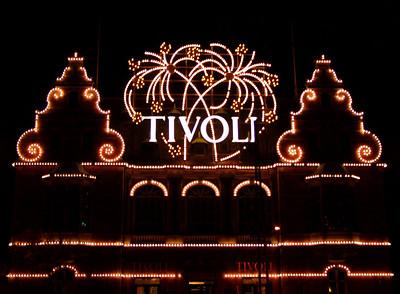 Amusement park Tivoli in Copenhagen
