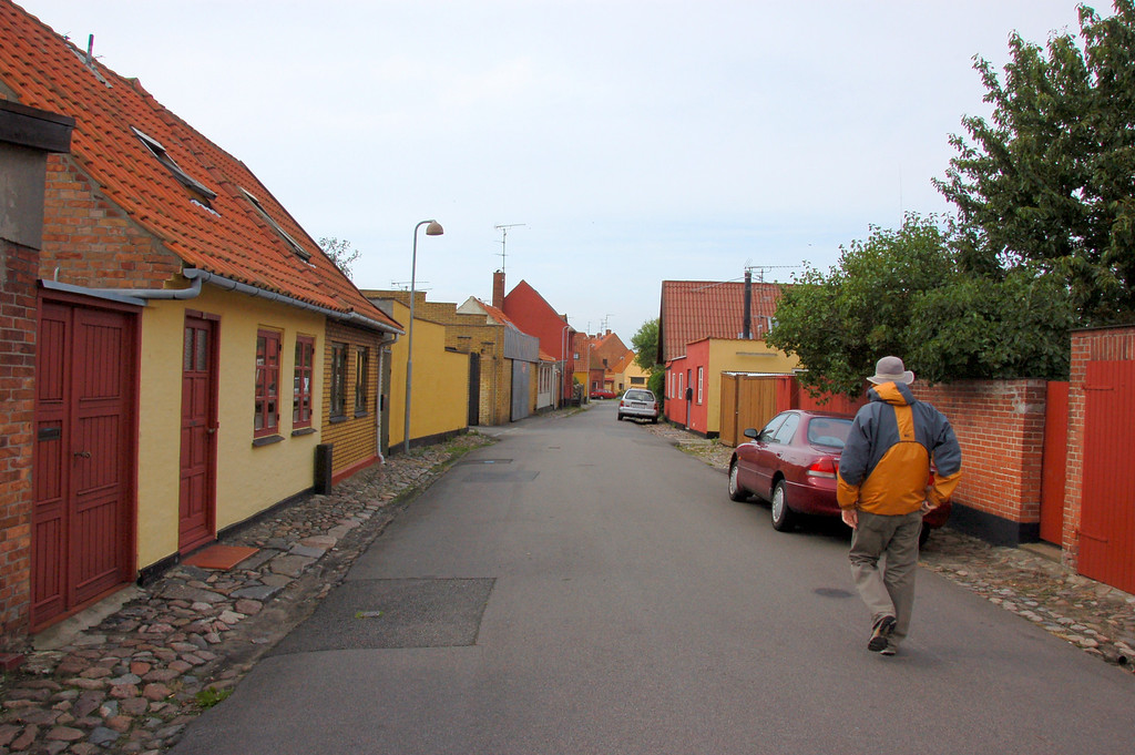 Touring Ronne<br /> <br /> Colorful houses lining empty streets