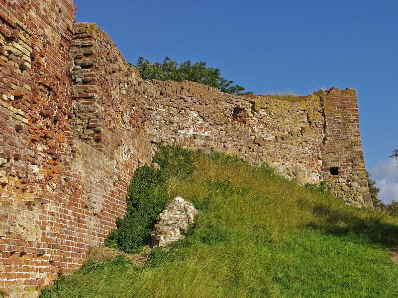 Denmark Vordingborg brick wall ruins